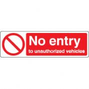 Prohibition safety sign - No Entry 072